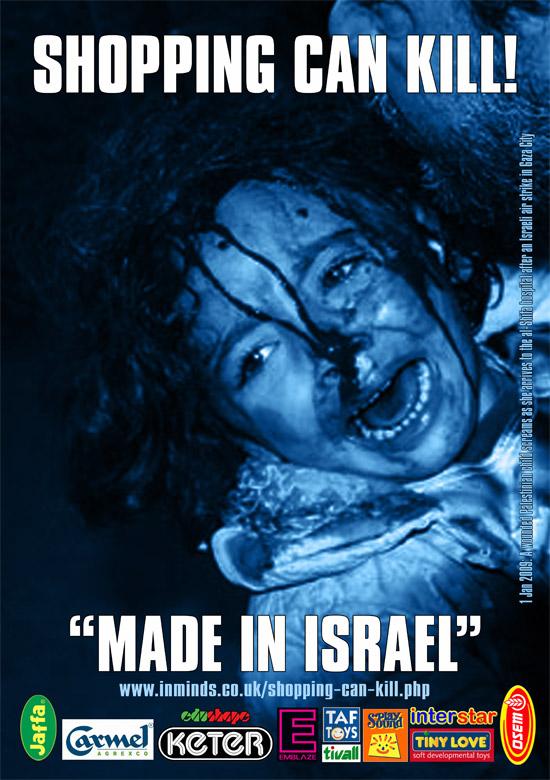 Shopping Can Kill! - Boycott Israeli Goods